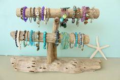 Driftwood Jewelry Holder TwoLevel Driftwood by StrollinTheBeach, $65.00