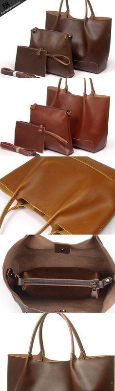 135c9f3a534 Leather handbag shoulder bag large tote for women Large Tote, Leather  Gifts, Leather Bags