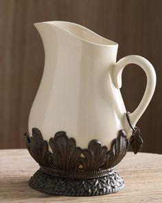 Beautiful ceramic pitcher
