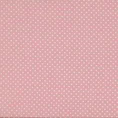Makower - Spot On Baby Pink cotton fabric