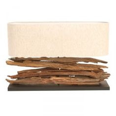 Drift Rustic Wooden Table Lamp With Natural Shade from Alexander and Pearl Rustic Wooden Table, Driftwood Table, Wooden Table Lamps, Wood Lamps, Natural Table Lamps, Natural Wood Table, Cream Lamps, Furniture Village, Barker And Stonehouse