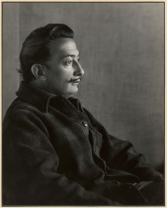 Photo: Johan Hagemeyer.  Salvador Dali. Carmel, California, 1944. Silver gelatin print.