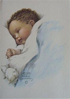 Illustration de Bessie Pease Gutmann. Many cute kids & babies