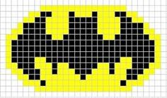Image result for crochet batman logo Knitting Charts, Knitting Patterns, Crochet Patterns, Batman Crochet, Pearler Bead Patterns, Pearler Beads, Knitted Bunnies, Crochet Cup Cozy, Little Cotton Rabbits