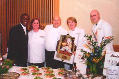 Chef Jim at the March of Dimes 2011 Fundraiser with Anchorman Wayne Dawson, Chef Audrey Rusnick, Carole Cox, and Executive Sous Chef, Jeff Brown.