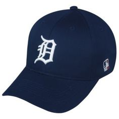 MLB ADULT Detroit TIGERS Home Blue Hat Cap Adjustable Velcro TWILL OC Sports Team MLB Outdoor Cap Co.