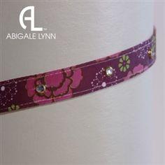 Raspberry Floral Interchangeable Visor Band by Abigale Lynn.  Buy it @ReadyGolf.com