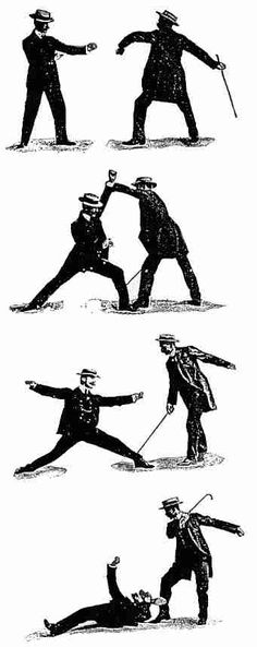 Self-defence with a Walking-stick: The Different Methods of Defending Oneself with a Walking-Stick or Umbrella when Attacked under Unequal Conditions (Part2) By E.W. Barton-Wright From Pearson's Magazine, 11 (February 1901), 195-204.