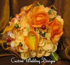 Real Touch Wedding Bouquet made of Roses by Customweddingdesigns, $145.00