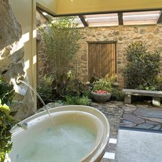 Courtyards and entrys on Pinterest - Bathroom With Courtyard