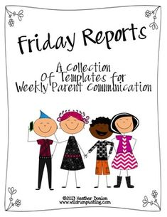 Parent Communication {Weekly Reports} $3.75