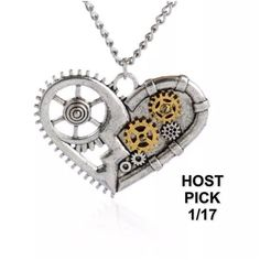 SALE REDUCTION STEAMPUNK NECKLACE Cool necklace. Silver tone. Chain about 22 inches. Steampunk is awesome. Thank you for visiting. I have 3 Jewelry Necklaces