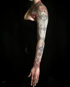 Girl Ornamental Tattoo Sleeve by Peter Madsen Body Art Tattoos, Sleeve Tattoos, Cool Tattoos, Tattoo Sleeves, Tattoo Art, Scale Tattoo, Tattoo Videos, Anatomical Heart, Symbol Design