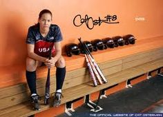 cat osterman I want to be like her a successful softball pitcher.