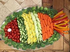 Fish shaped veggie tray