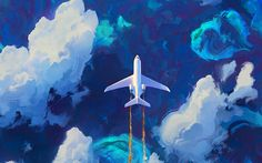 Plane drawing HD wallpaper - Anna's Home Wallpaper Für Desktop, Airplane Wallpaper, Cloud Wallpaper, Macbook Wallpaper, Aesthetic Desktop Wallpaper, Travel Wallpaper, Blue Wallpapers, Computer Wallpaper, Wallpaper Backgrounds