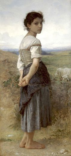 Young Shepherdess by William-Adolphe Bouguereau