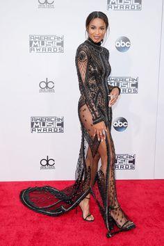 Os looks da Jennifer Lopez no American Music Awards American Music Awards 2015, Jennifer Lopez, Ciara Photos, Lil Black Dress, Sheer Gown, See Through Dress, Beautiful Gowns, Simply Beautiful, Beautiful Women