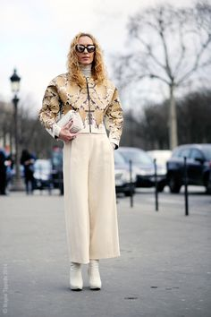 that jacket. #ElinaHalimi in Paris. #WayneTippetts
