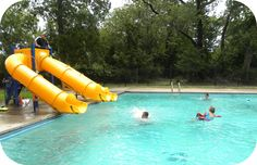 YMCA Camp Carter in Fort Worth, TX - Cabins with A/C, lifeguard on duty, archery, riflery, high ropes, a swimming pool, canoeing, and more. HIGHLY recommended. Search DFW page for post details.