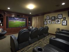 Home Theater Movie Room in Coral Gables Florida