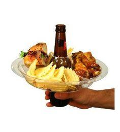 Beer food holder