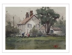 'English Yardwork' By Dan Marshall on Saunders Waterford Rough paper. http://danmarshallart.bigcartel.com/