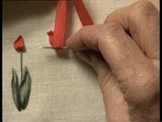 Silk Embroidered Tulips - Video