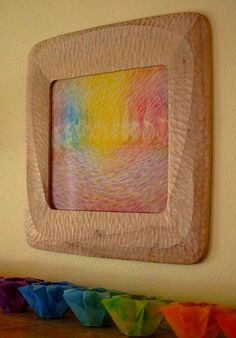 Gorgeous frame and artwork. by waldorf mama, via Flickr
