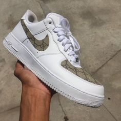 0cb172af3a375 Custom Nike Air Force 1 Gucci Print - Gucci Shoes - Latest and fashionable  gucci shoes