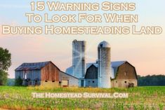 The Homestead Survival | 15 Warning Signs To Look For When Buying Homesteading Land | Homesteading - Buying Land - http://thehomesteadsurvival.com