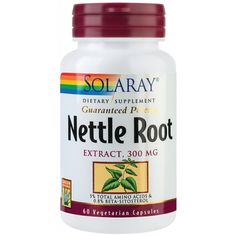 Nettle root (60 capsule), Solaray Metabolism, Asparagus, Coconut Oil, Vegetarian, Food, Meal, Essen, Hoods, Meals