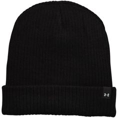 Under Armour Boyfriend Cuff Beanie (58 BRL) ❤ liked on Polyvore featuring accessories, hats, cuffed beanie, cuff beanie, acrylic hat, holiday hats and cocktail hat