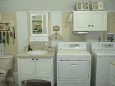 Bathroom Laundry Room Combination | Laundry Room; Before and After, Half  bath and laundry