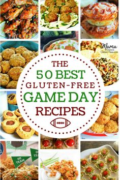 Fifty of the Best Gluten-Free Game Day Recipes! From cheesy dips to savory bites and saucy wings we've got everything you need for your next party or game day event like the Super Bowl! A collection of gluten-free appetizer recipes from top gluten-free and food allergy bloggers. gluten-free, game day food, party food, appetizers www.mamaknowsglutenfree #glutenfree #superbowlparty #appetizers #gamedayfood #tailgatefood #tailgaiting #glutenfreeappetizers