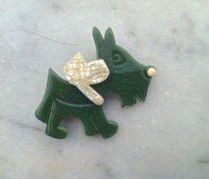 Lea Stein Paris Vintage Scottie dog  TOTIE  brooch by DecoFashion