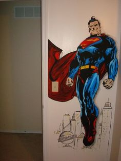 Superman mural, Would be perfect for my hubby man cave