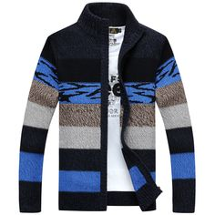 Autumn Fleece Zipper Knitwear Sweater Men Cardigan To Keep Warm High Quality Cotton Thick Office Casual Cardigans Coat