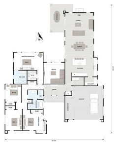 Plan Friday: Multiple living spaces and relaxed indoor-outdoor flow Floor Plan Friday: Multiple living spaces and relaxed indoor-outdoor flowFloor Plan Friday: Multiple living spaces and relaxed indoor-outdoor flow Best House Plans, Dream House Plans, House Floor Plans, Indoor Outdoor Fireplaces, House Blueprints, Bedroom House Plans, Dream House Exterior, House Layouts, House Goals