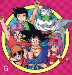 Goku, Piccolo, Goten, Trunks, Pan and Bra