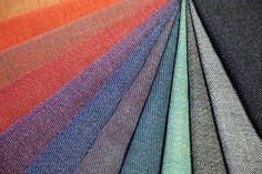 Granvik, en fargerik kolleksjon, er først og fremst laget med tanke på store interiørprosjekt. Designer: Kristina D. Aas Fiber, Weaving, Menu, Tableware, Menu Board Design, Dinnerware, Low Fiber Foods, Tablewares, Loom Weaving