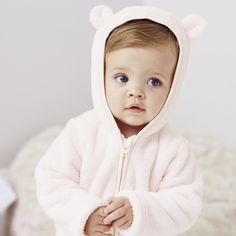 Girls' Bear Fleece Romper   The White Company