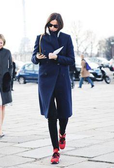 Athleisure Style Frauenmode sportschuhe mantel