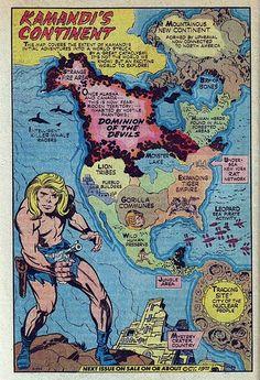 Kamandi's Continent by Jack Kirby
