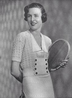 1934 Tennis/ Golf Top Vintage Knitting Pattern 028 by knittedcouture on Etsy https://www.etsy.com/listing/157563808/1934-tennis-golf-top-vintage-knitting