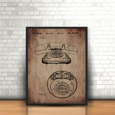 A2 A3 A4 download Toy Telephone Patent Toy by DecorFineArt on Etsy