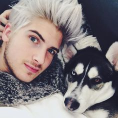 """""""Spent my entire day sick on the couch with this guy! """" #JoeyGraceffa"""