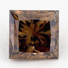 1.00 CARAT PRINCESS CUT DIAMOND VS1 BROWN COLOR NATURAL LOOSE DIAMOND