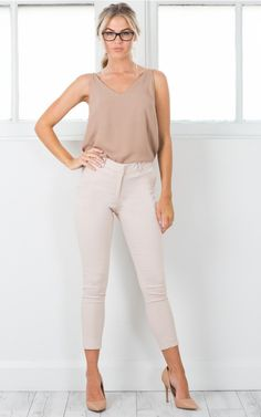 Overtime pants in beige | SHOWPO Fashion Online Shopping