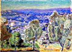 Le Cannet, View from the Pink House / Pierre Bonnard, 1926